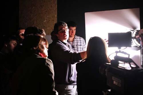 Cinematography class at BFA