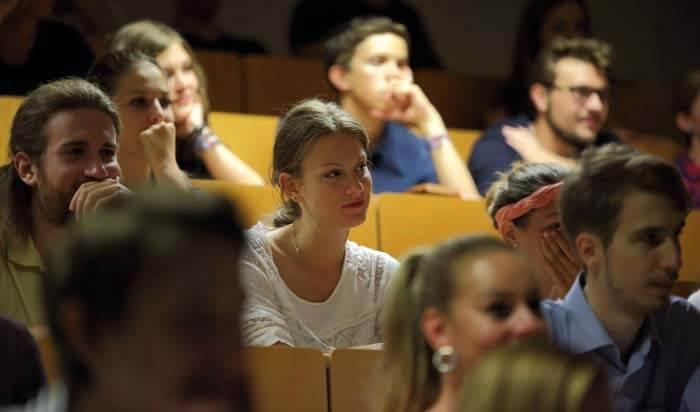 Student at filmmaking workshop