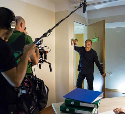 Filming of the short film, Memmod